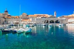 Zadziwiający schronienie w Dubrovnik mieście, Chorwacja zdjęcie royalty free