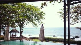 Zadziwiający szy widok przy willą z pływackim basenem, raj w Koh Samui, Tajlandia, 1920x1080 zbiory wideo