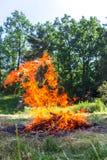 Zadziwiający taniec ogień Obrazy Stock