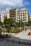 Zadziwiający widok Agia Sofia kwadrat w mieście Saloniki, Środkowy Macedonia, Grecja Zdjęcia Stock