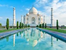 Zadziwiający widok na Taj Mahal w zmierzchu świetle agra indu Zdjęcia Stock