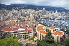 Zadziwiający widok nabrzeże w Monte, Carlo - zdjęcie royalty free