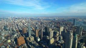 Zadziwiający widok z lotu ptaka nad Manhattan Nowy Jork zdjęcie wideo