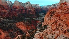 Zadziwiający widok Zion park narodowy, Utah zdjęcie royalty free