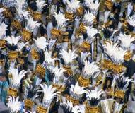 Zadziwiający wielkie widowisko podczas rocznego karnawału w Rio De Janeiro fotografia royalty free