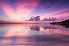 Zadziwiający wschód słońca i zmierzch w George Town, Penang zdjęcie royalty free