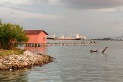Zadziwiający wschód słońca i zmierzch w George Town, Penang Malezja obraz royalty free