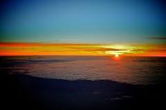 Zadziwiający wschód słońca od nieba Fotografia Royalty Free
