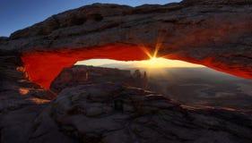 Zadziwiający wschód słońca Przy mesami zdjęcie stock