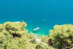 Zadziwiający wybrzeże w Lozica blisko Dubrovnik, Dalmatia, Chorwacja Obrazy Royalty Free