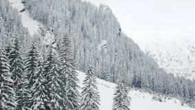 Zadziwiający zima krajobraz w górach zbiory