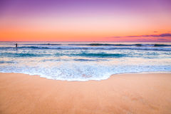 Zadziwiający zmierzchu seascape widok Zdjęcia Stock