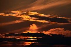 Zadziwiająca dramatyczna zmierzchu cloudscape sceneria Zdjęcie Royalty Free