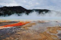 Zadziwiająca fotografia basen w Yellowstone Zdjęcie Stock