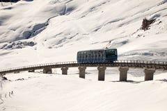 Zadziwiająca halna sceneria od St Moritz, Szwajcaria Obraz Stock