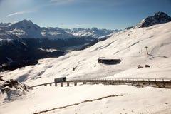Zadziwiająca halna sceneria od St Moritz, Szwajcaria Zdjęcie Stock
