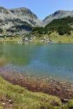 Zadziwiająca panorama z Prevalski jeziorami i Mozgovishka przechodzimy, Pirin góra Obrazy Royalty Free