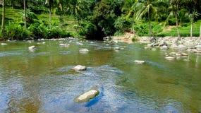 Zadziwiająca rzeka w Tasikmalaya, Zachodni Jawa, Indonezja Fotografia Royalty Free