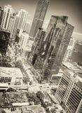 Zadziwiaj?ca W centrum Miami linia horyzontu na pi?knym dniu, widok od miasto dachu fotografia royalty free
