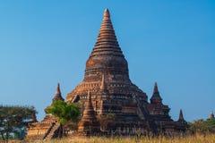 Zadziwiające dziejowe Bagan pagody w Myanmar Zdjęcia Stock