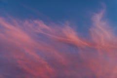 Zadziwiające zmierzch chmury Fotografia Royalty Free