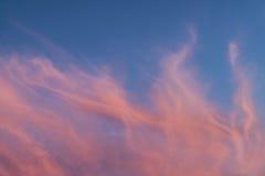 Zadziwiające zmierzch chmury Zdjęcia Royalty Free