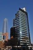 Zadziwiający drapacze chmur w Santiago, Chile Obrazy Royalty Free