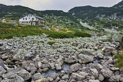 Zadziwiający krajobraz blisko Siedem Rila jezior Obraz Stock