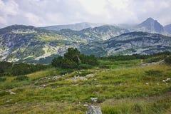Zadziwiający krajobraz blisko Siedem Rila jezior Zdjęcia Royalty Free