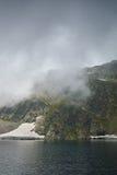 Zadziwiający krajobraz Oko jezioro Siedem Rila jezior Fotografia Stock