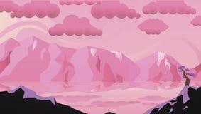 Zadziwiający menchia krajobraz obrazy stock