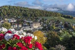 Zadziwiający sen jak szwajcarska wysokogórska góra Fotografia Stock