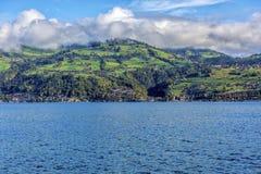 Zadziwiający sen jak szwajcarska wysokogórska góra Fotografia Royalty Free