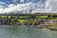 Zadziwiający sen jak szwajcarska wysokogórska góra Obrazy Royalty Free