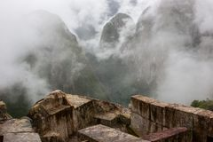 Zadziwiający widok Andes od Machu Picchu ruin Zdjęcia Royalty Free