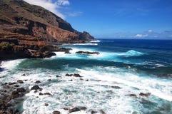Zadziwiający widok na falistym morzu Fotografia Royalty Free