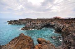 Zadziwiający widok na falistym morzu Obraz Stock