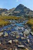 Zadziwiający widok Orlovets szczyt od Elenski jezior, Rila góra Zdjęcie Royalty Free