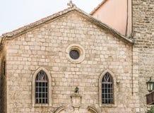Zadziwiający widok rocznika dom w starym miasteczku Budva, Montenegro zdjęcia stock