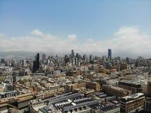 Zadziwiaj?cy widok z g?ry Tworzący DJI Mavic Linia horyzontu Bejrut Kapita? Liban wschodni ?rodek obrazy stock
