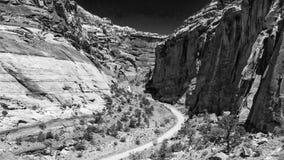 Zadziwiający widok z lotu ptaka Zion park narodowy Utah, Stany Zjednoczone, - fotografia stock