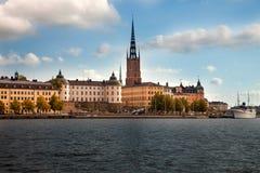 Zadziwiający widoki stary grodzki Gamla Stan Sztokholm, Szwecja Obrazy Stock