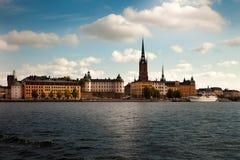Zadziwiający widoki stary grodzki Gamla Stan Sztokholm, Szwecja Zdjęcia Royalty Free