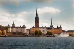 Zadziwiający widoki stary grodzki Gamla Stan Sztokholm, Szwecja Obraz Stock