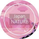 Zadziwiający wiosny Japonia krajobraz obrazy stock
