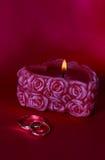 zadzwoń do ślubu candle Obrazy Stock
