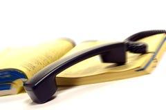 zadzwoń do lektury wypadek przez telefon obraz stock