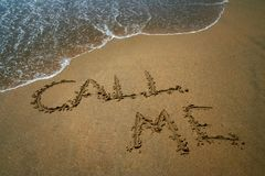 zadzwoń do mnie Zdjęcie Royalty Free