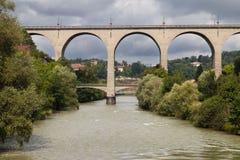 Zaehringen桥梁 免版税库存图片