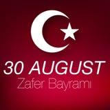 30 zafer bayrami zwycięstwa august dzień Turcja ilustracji